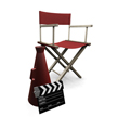 graphic of chair,megaphone, clapper board to represent the Movie Insider Package ... purchased from Kirsty Pargeter - Fotolia.com
