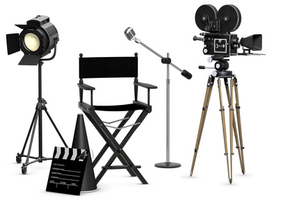 photo of Hollywood film equipment from old days .... purchased from James Steidl - Fotolia.com