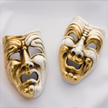 graphic of comedy and tragedy masks to represent actors and the movie star package ... purchased from Marek Tihelka - Fotolia.com