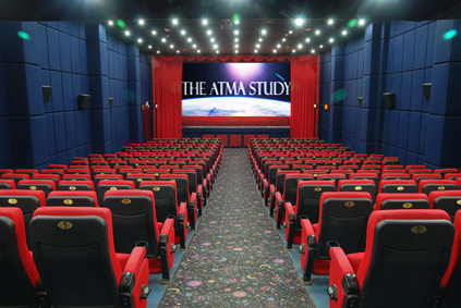 photo/ graphic of movie theater playing The ATMA Study on screen ...purchased from Phuong Nguyen - Fotolia.com