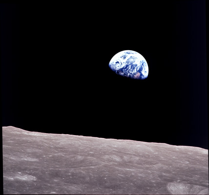 NASA photo of Earth from the moon
